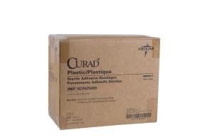 """1"""" x 3"""" Curad Plastic Bandages, 12 Boxes/Case"""