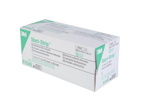 "3M Sterile 1/4"" x 1-1/2"" Steri-Strip™, 1 Box (50 packs of 6)"