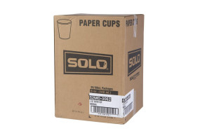 Solo 5 Oz Flat Bottom Paper Cups, 2500/Case