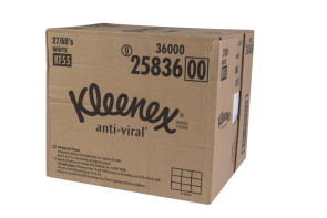 Kleenex Anti-Viral Tissues 68/Box, Case of 27 Boxes