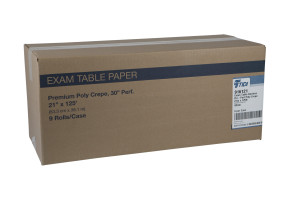 "Perforated Poly Crepe 21"" Exam Paper, Case of 9 Rolls"