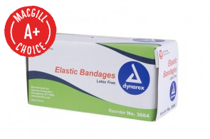 "4"" x 5 Yds Economy Elastic Bandages with Clips, 10/Pack"