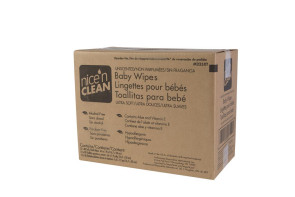 Nice 'n Clean Baby Wipes, 80/Pack, 12 Packs/Case