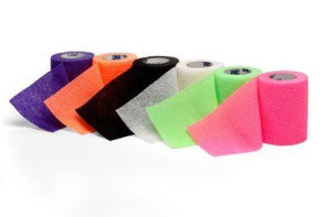 "3"" x 5 Yds Coban, Assorted Neon Colors, 12 Rolls/Box"