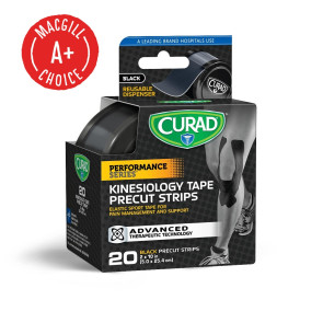 Curad® Performance Series Kinesiology Tape, 20 Strips, Black