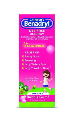 Children's Benadryl Dye-Free 4 oz. Liquid