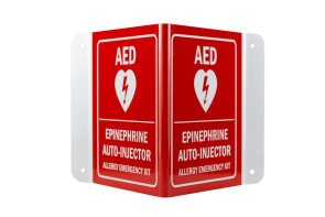 Allergy Emergency Kit™ Epinephrine / AED Sign