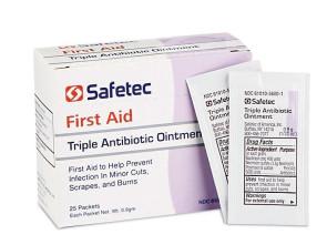 Economy Triple Antibiotic Ointment Foil Packs, 25 Per Box