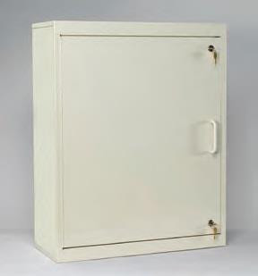 Medication Cabinet, Double Key Lock
