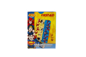 "Justice League Bandages, 3/4"" x 3"", 100/Box"