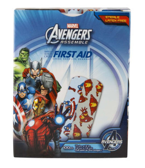"Avengers Bandages, 3/4"" x 3"", 100/Box"