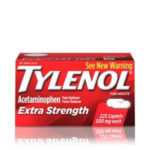 Tylenol Extra-Strength, 500 mg Caplets, 225/Bottle