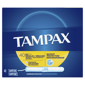 Tampax Cardboard Tampons Regular, 40/Box