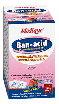 Economy Banacid Maximum Strength 750, 75 x 2 Unit Dose Packs