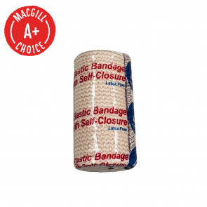 "4"" x 5 Yds Economy Elastic Bandage with Self Closure"