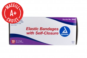 "4"" x 5 Yds Economy Elastic Bandage with Self Closure, 10/Box"