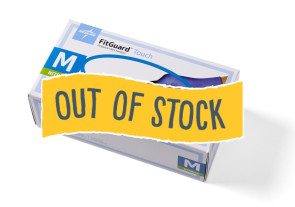 (Out of Stock) FitGuard™ Touch Nitrile Gloves, Med, 300/Box