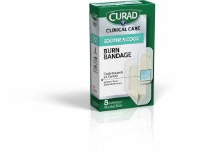 Curad® Soothe & Cool Bandages, Assorted Sizes, 8/Box