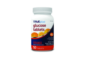 TRUEplus Glucose Tablets, Orange Flavor, 50 Ct.