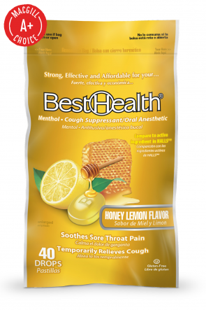 Economy Cough Drops, Honey Lemon, 40 per Bag