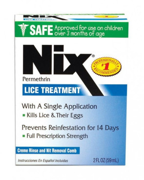 Nix Cream Rinse Lice Shampoo, 2 Oz. Bottle