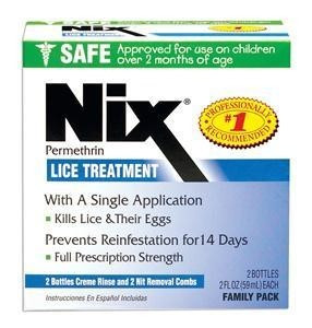 Nix Cream Rinse Lice Shampoo, 4 Oz Bottle