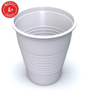 Economy White 5oz Plastic Cups, 50 per sleeve