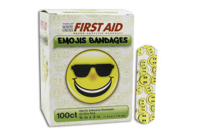"Emoji Bandages, 3/4"" x 3"", 100/Box"