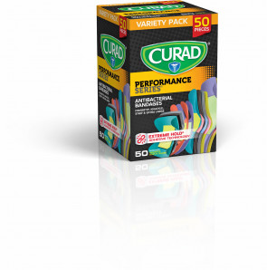 Curad® Performance Series Assorted Anti-Bacterial Bandages