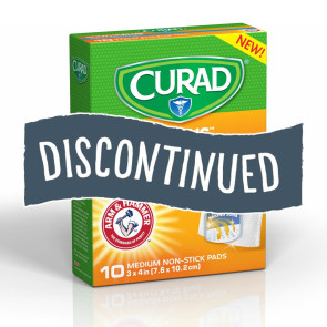 (Discontinued) Curad® SoothePlus™ Med Non-Stick Pads, 10/Box