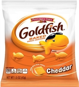 Pepperidge Farm Cheddar Cheese Goldfish, 1.5 Oz, 72/Cs