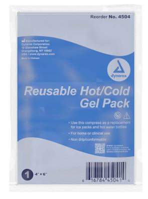 "Economy Reusable Hot & Cold Gel Packs, 4"" X 6"", 24/Case"