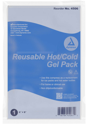 """Economy Reusable Hot & Cold Gel Pack, 6"""" X 9"""""""