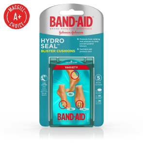 Band-Aid® Hydro Seal™ Assorted Foot Blister Cushions, 5/Box
