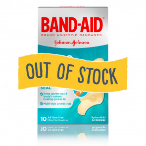 (Out of Stock) Band-Aid® Hydro Seal™ Gel Bandages, 10/Bx