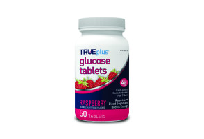 TruePlus Glucose Tablets, Raspberry 50ct.