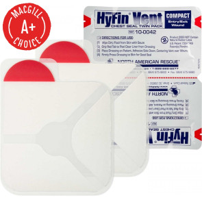 HyFin® Vent Compact Chest Seal Twin Pack