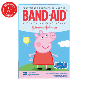 Band-Aid® Peppa Pig Assorted Bandages, 20/Box