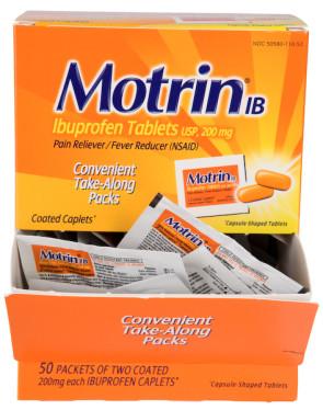 Motrin® IB Tablets 200 mg, 50 Packs of 2 per Box