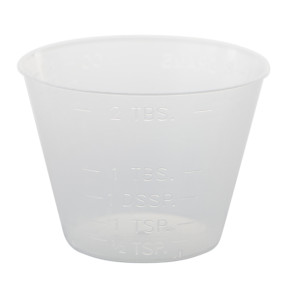 1 Oz Graduated Plastic Medicine Cups, 100/Tube