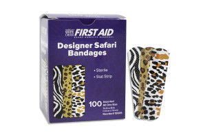 "Safari Bandages, 3/4"" x  3"", 100/Box"