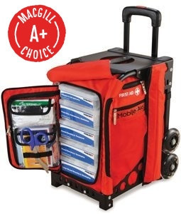 MobileAid EASY-ROLL Hi-Visibility Trauma First Aid Station