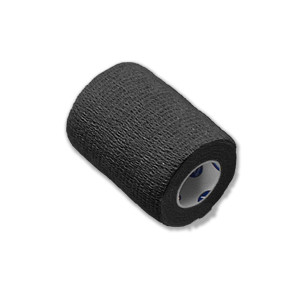 "Economy Latex Self-Adherent Wrap, 3"" x 5 Yards, Black"