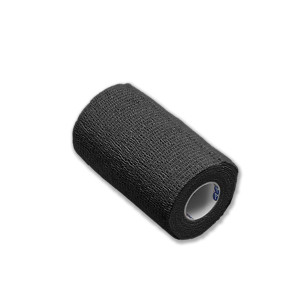 "Economy Latex Self-Adherent Wrap, 4"" x 5 Yards, Black"