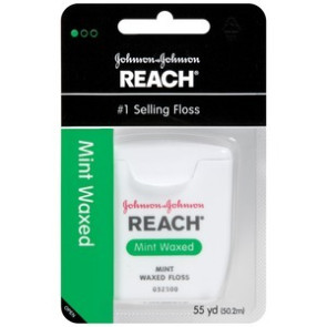 J & J Reach Dental Floss, 55 Yards, Mint