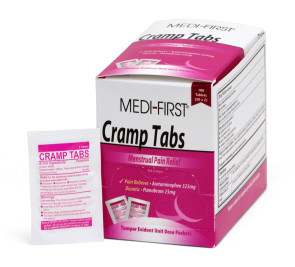 Cramp Tabs, 250 packs of 2