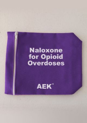 "Overdose Narcan Carrying Bag, 5"" x 7"", Purple"
