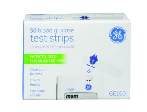 GE100 Test Strips, 50 per Box