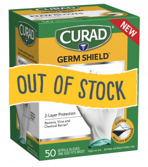 (Out of Stock) Curad GermShield Nitrile Gloves, 50/Box