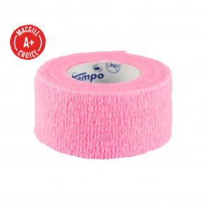 "Economy 1"" x 5 Yards Self-Adherent Wrap, Pink, Latex-Free"